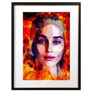 Danaerys Targaryen 'I Will Do What Queens Do' by Baiba Auria - signed art print - Egoiste Gallery