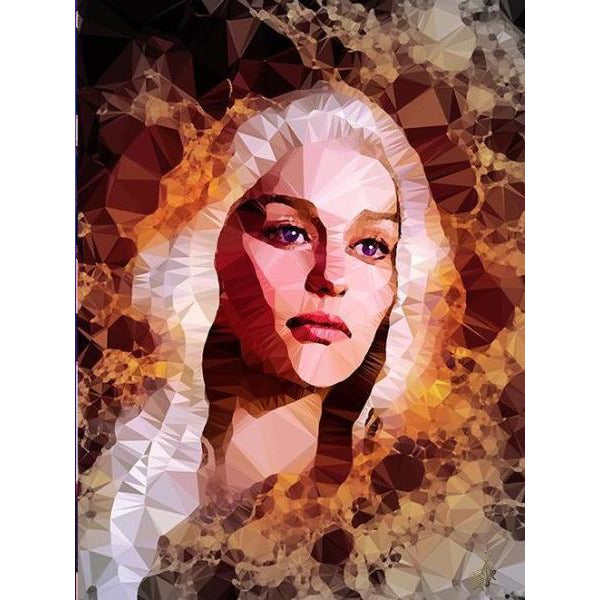 Danaerys Targaryen 'Ashes To Ashes' by Baiba Auria - signed art print - Egoiste Gallery - Art Gallery in Manchester City Centre
