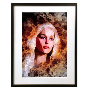 Danaerys Targaryen 'Ashes To Ashes' by Baiba Auria - signed art print - Egoiste Gallery