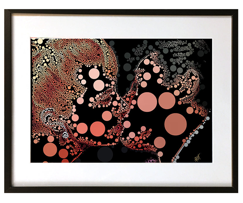 Perfect Kiss #1 by Baiba Auria - signed art print - Egoiste Gallery
