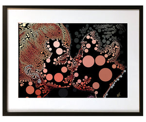 The Kiss #1 by Baiba Auria - signed art print - Egoiste Gallery - Art Gallery in Manchester City Centre