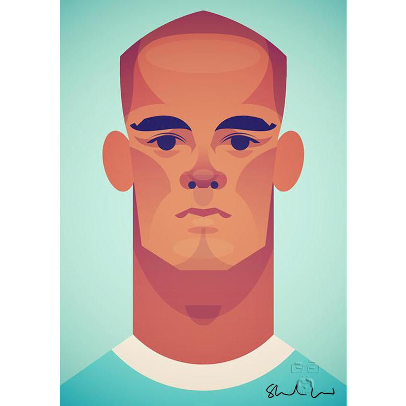 Vincent Kompany by Stanley Chow - Signed and stamped fine art print - Egoiste Gallery
