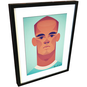 Vincent Kompany by Stanley Chow - Signed and stamped fine art print - Egoiste Gallery - Art Gallery in Manchester City Centre
