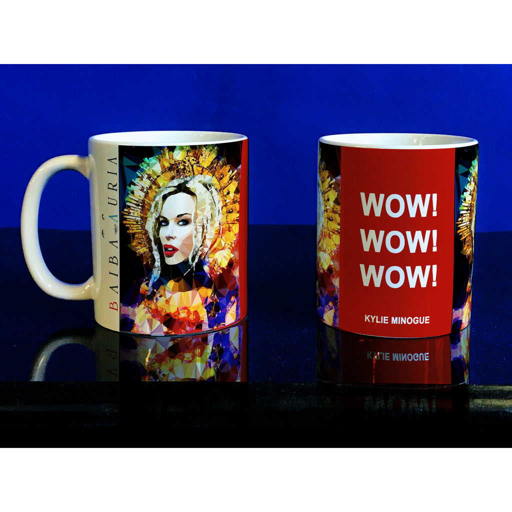 Kylie Minogue Mug by Baiba Auria - Egoiste Gallery - Art Gallery in Manchester City Centre