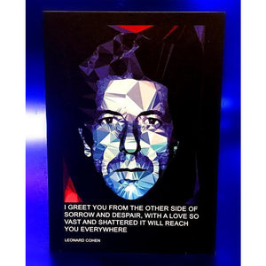 Leonard Cohen  greeting card by Baiba Auria - Egoiste Gallery