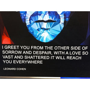Leonard Cohen  greeting card by Baiba Auria - Egoiste Gallery - Art Gallery in Manchester City Centre