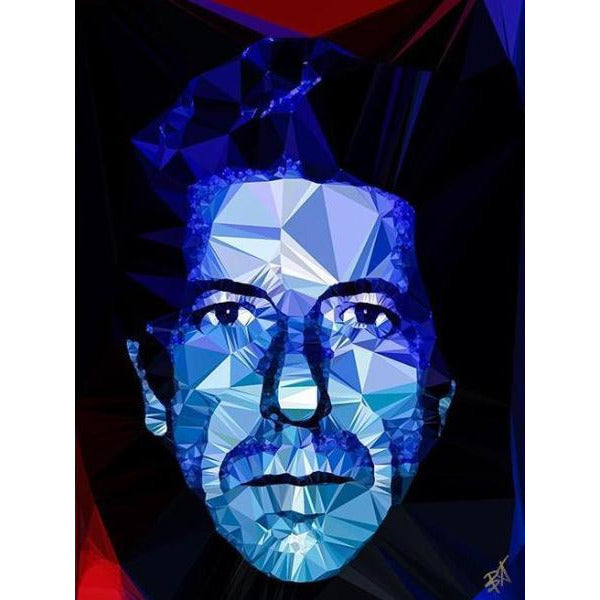 Leonard Cohen by Baiba Auria - signed art print - Egoiste Gallery - Art Gallery in Manchester City Centre