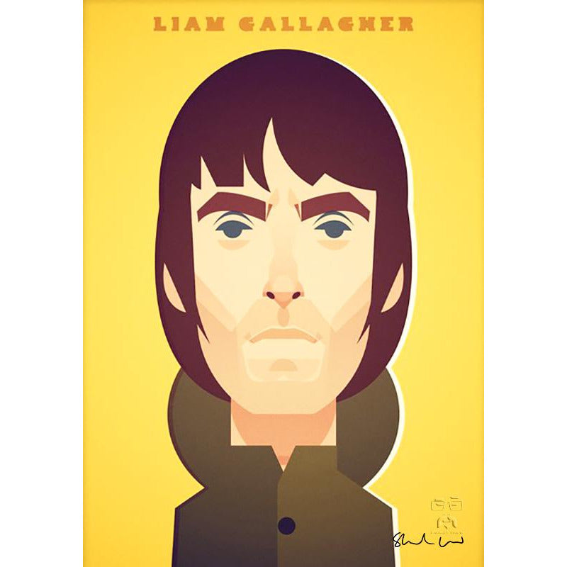 Laim Gallagher by Stanley Chow - Signed and stamped fine art print - Egoiste Gallery - Art Gallery in Manchester City Centre