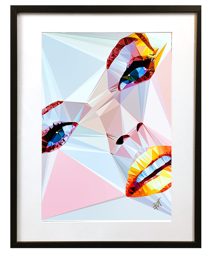 Linda Evangelista by Baiba Auria - signed art print - Egoiste Gallery - Art Gallery in Manchester City Centre