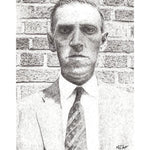 H. P. Lovecraft by Matt Hopper - signed fine art giclee print - Egoiste Gallery