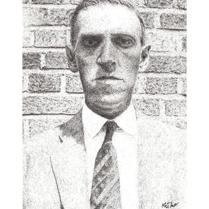 H. P. Lovecraft by Matt Hopper - signed fine art giclee print - Egoiste Gallery - Art Gallery in Manchester City Centre