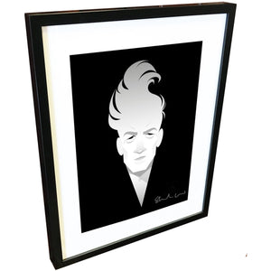 David Lynch by Stanley Chow - Signed and stamped fine art print - Egoiste Gallery - Art Gallery in Manchester City Centre