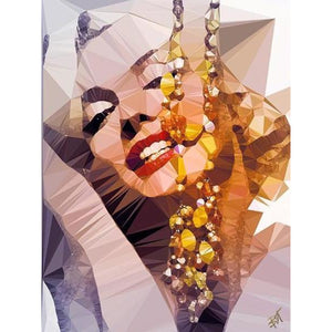 Marilyn Monroe #1 by Baiba Auria - signed art print - Egoiste Gallery