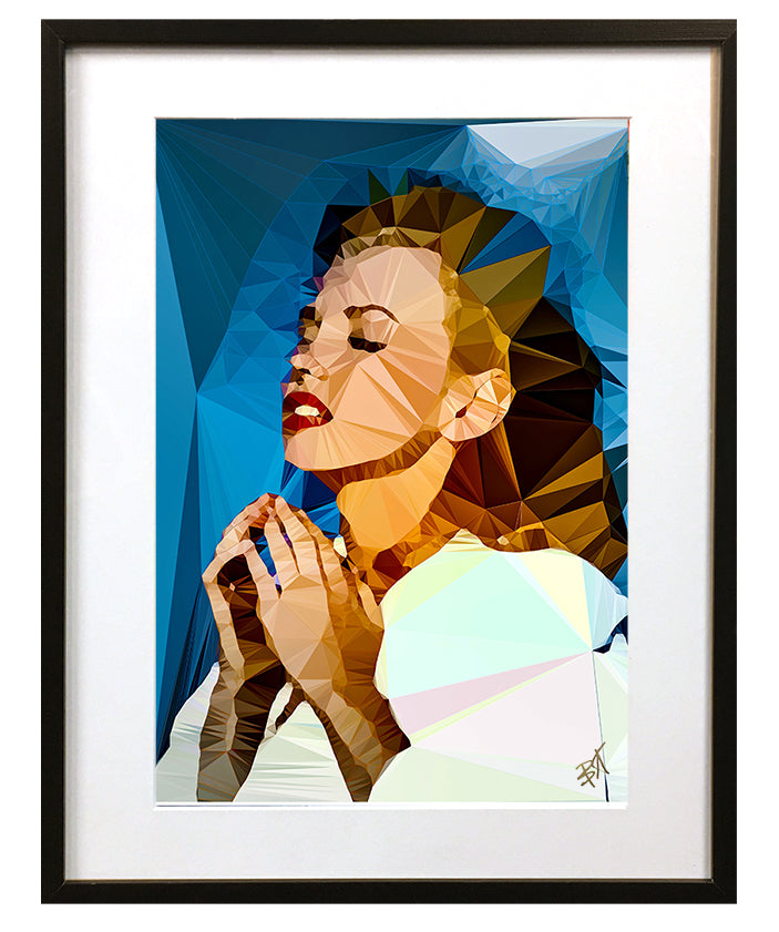 Marilyn Monroe #2 by Baiba Auria - signed art print - Egoiste Gallery - Art Gallery in Manchester City Centre
