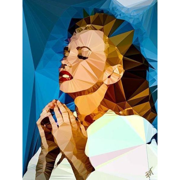 Marilyn Monroe #2 by Baiba Auria - signed art print - Egoiste Gallery