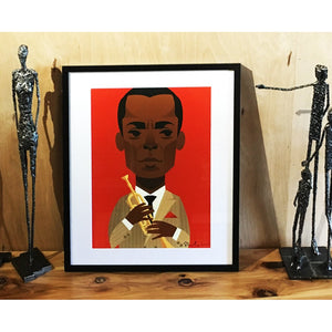Miles Davis by Stanley Chow - Signed and stamped fine art print - Egoiste Gallery