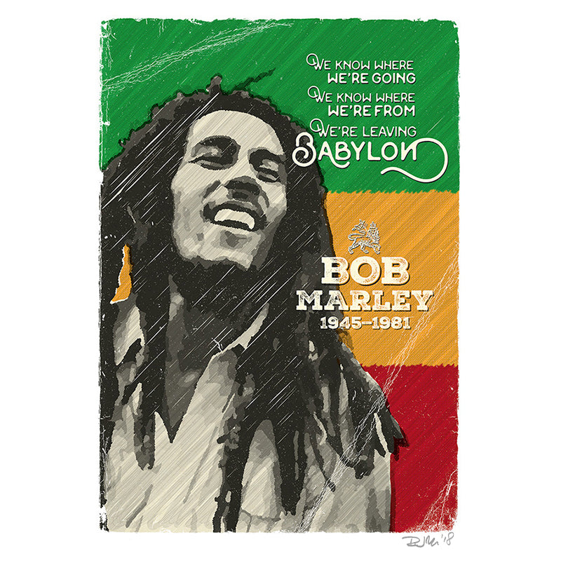 Bob Marley by Richard Miller - Signed Fine Art Print - Egoiste Gallery