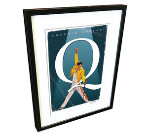 Freddie Mercury by Richard Miller - Signed Fine Art Print - Egoiste Gallery