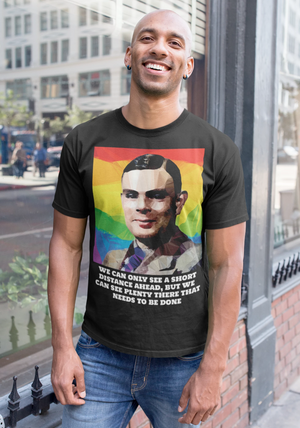 Alan Turing (I) by Baiba Auria: Short-Sleeve Unisex T-Shirt - Egoiste Gallery - Art Gallery in Manchester City Centre