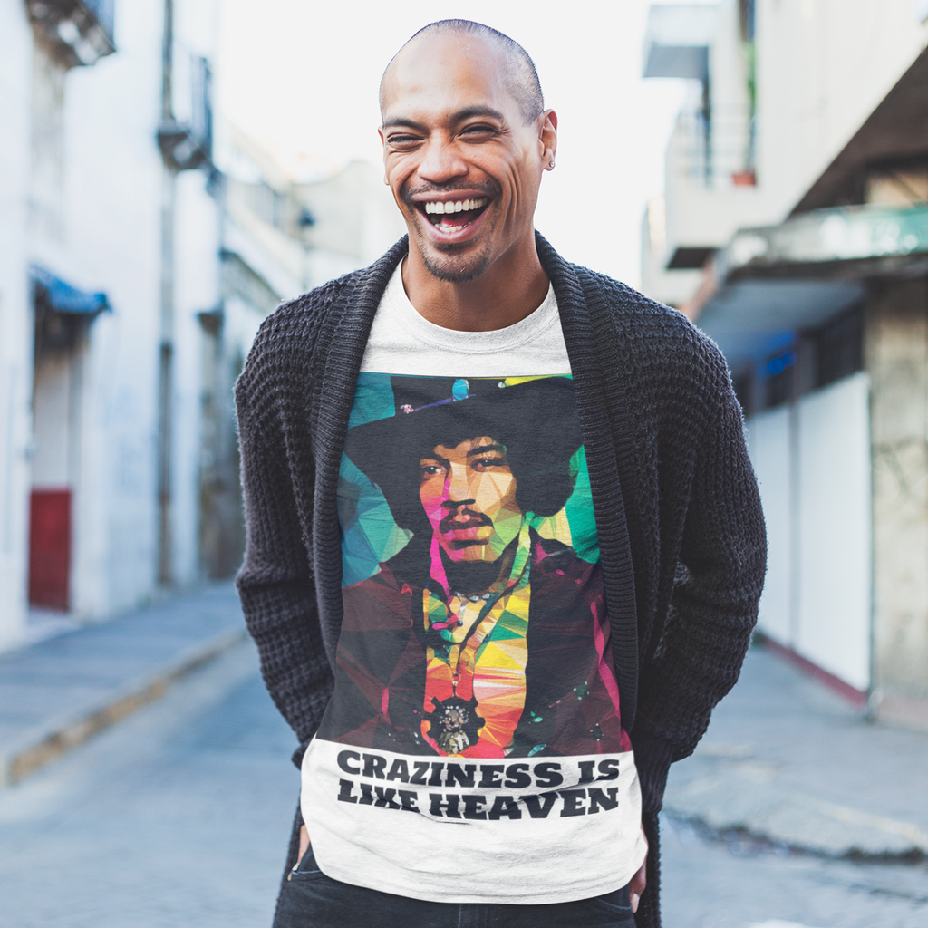 Jimi Hendrix by Baiba Auria: Short-Sleeve Unisex T-Shirt - Egoiste Gallery - Art Gallery in Manchester City Centre