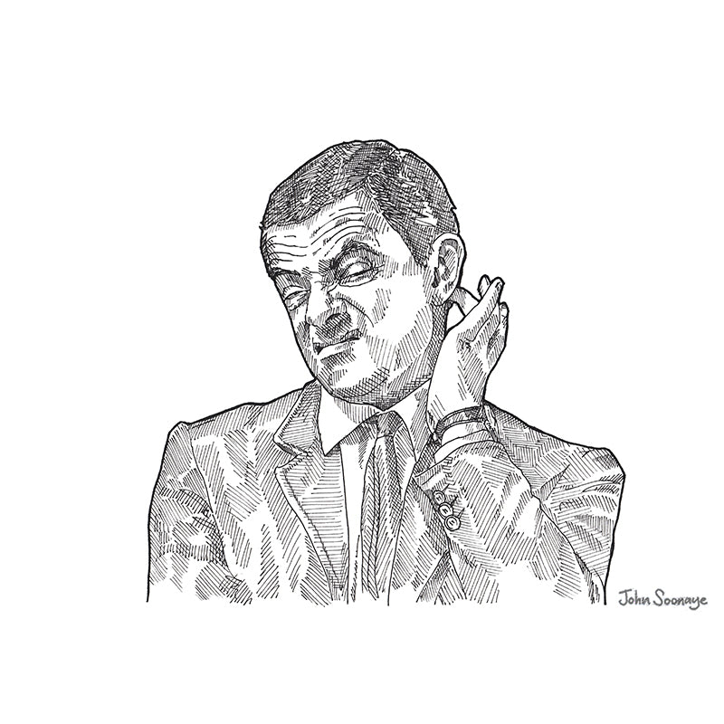 Mr Bean by John Soonaye - signed fine art print - Egoiste Gallery