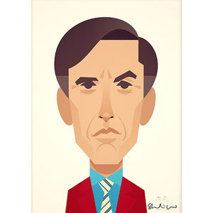 Alan Partridge by Stanley Chow - Signed and stamped fine art print - Egoiste Gallery - Art Gallery in Manchester City Centre