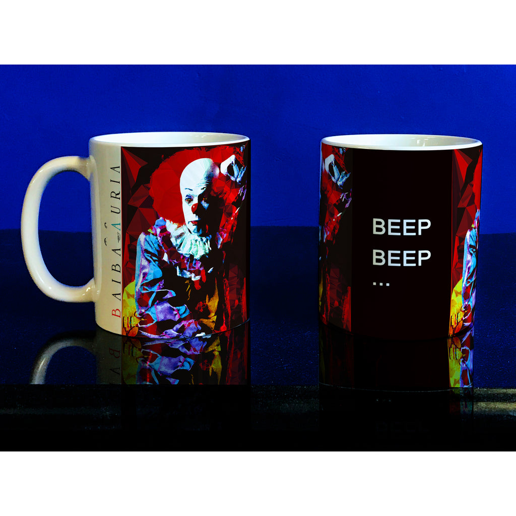 Pennywise #1 Mug by Baiba Auria - Egoiste Gallery - Art Gallery in Manchester City Centre