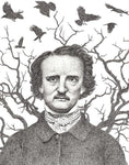 Edgar Allan Poe by Matt Hopper - signed fine art giclee print - Egoiste Gallery - Art Gallery in Manchester City Centre