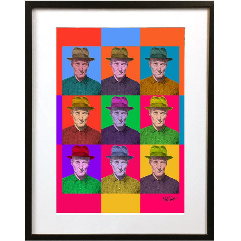 William Burroughs Pop Art by Matt Hopper - signed fine art giclee print - Egoiste Gallery - Art Gallery in Manchester City Centre