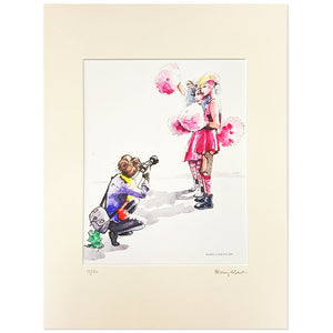 Posing for the Camera by Henry Martin - signed and mounted limited edition A4 print #11/50 - Egoiste Gallery