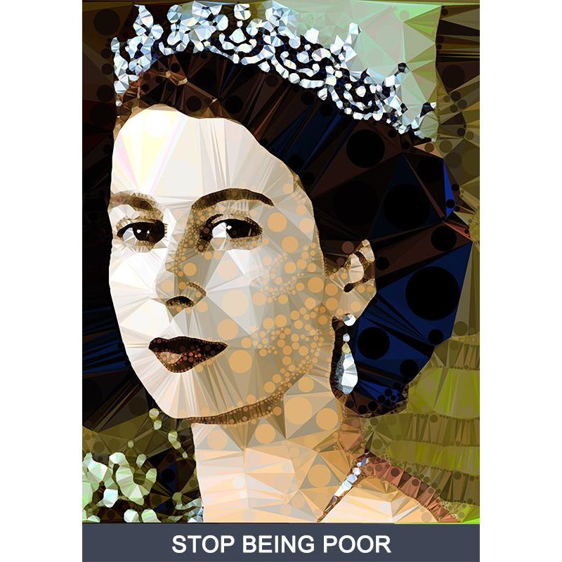 Stop Being Poor by Baiba Auria - signed art print with quote - Egoiste Gallery