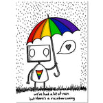 Rainbow Robot by Jon Turner - signed archival Giclée print