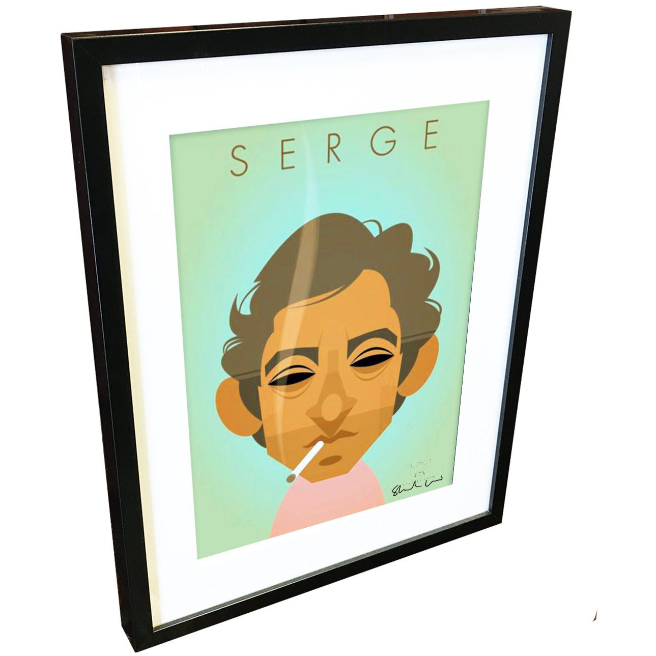 Serge Gainsbourg by Stanley Chow - Signed and stamped fine art print - Egoiste Gallery