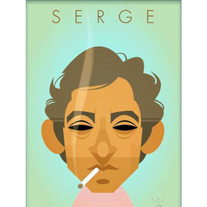 Serge Gainsbourg by Stanley Chow - Signed and stamped fine art print - Egoiste Gallery - Art Gallery in Manchester City Centre