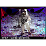 "Small Step #1 - ""I DID SAY I NEEDED SOME SPACE"" art print signed by Baiba Auria - Egoiste Gallery"