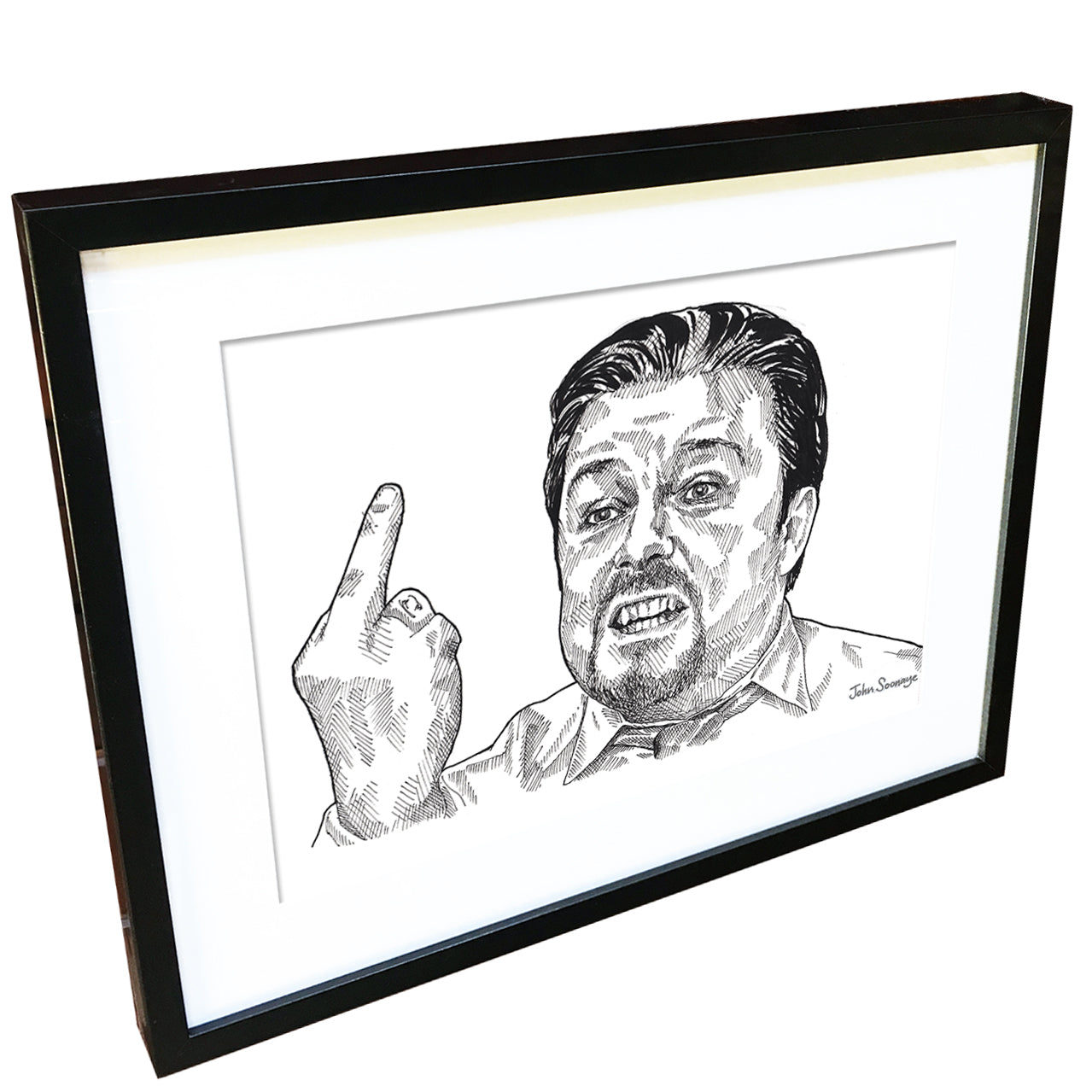 David Brent by John Soonaye - signed fine art print - Egoiste Gallery