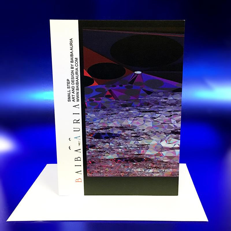 "Small Step greeting card - ""I DID SAY I NEEDED SOME SPACE"" - by Baiba Auria - Egoiste Gallery"
