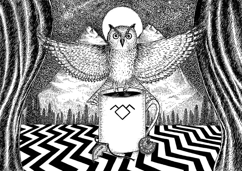 The Owls Are Not What They Seem by Jon Turner - signed archival Giclée print - Egoiste Gallery - Art Gallery in Manchester City Centre