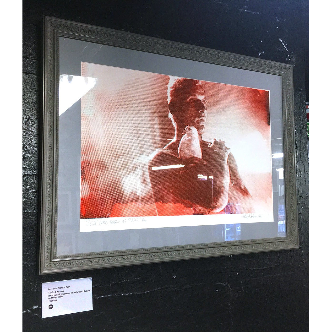 Lost Like Tears in Rain - signed and framed glitter print by Trafford Parsons - Egoiste Gallery