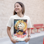 Kylie Minogue Tee by Baiba Auria: Short-Sleeve Unisex T-Shirt - Egoiste Gallery - Art Gallery in Manchester City Centre
