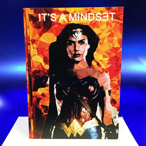 "Wonder Woman #1 greeting card - ""IT'S A MINDSET"" - by Baiba Auria - Egoiste Gallery"