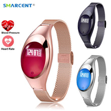SMARCENT Women Fashion SmartWatch With Blood Pressure Heart Rate Monitor Pedometer Fitness Tracker Wristband For Android IOS
