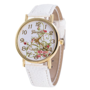 Relogio feminino Fashion Women Flowers Watches Sport