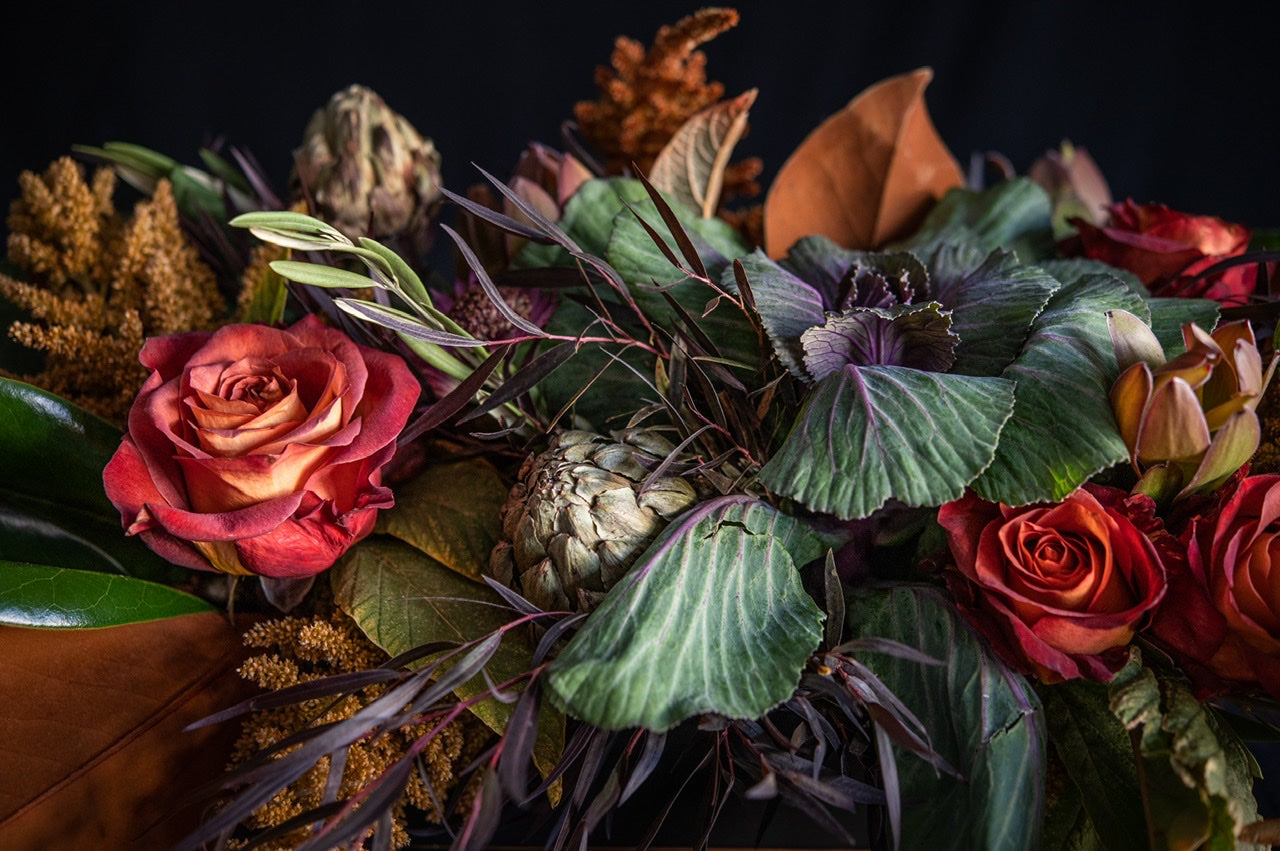 Seasonal Fall flower arrangements available for next day delivery