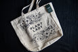Canvas tote that says Plant Lady with florals