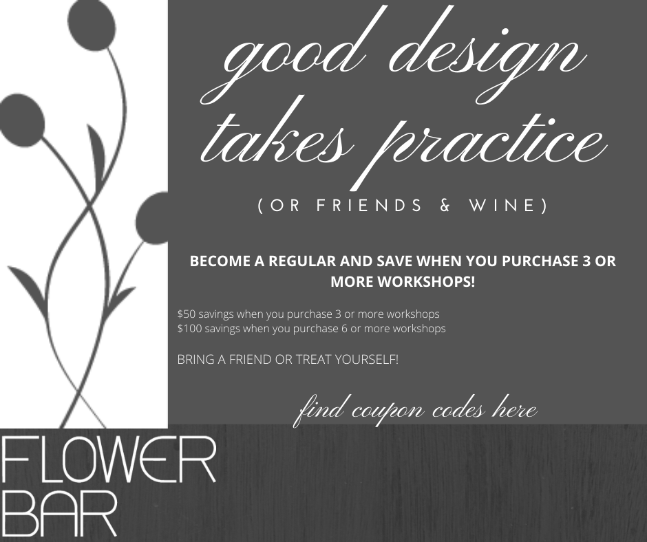 Workshop Promo Codes - Flower Bar