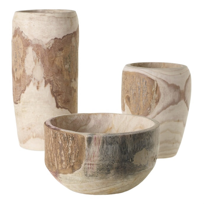 Yucca Wooden Vase collection - Flower Bar