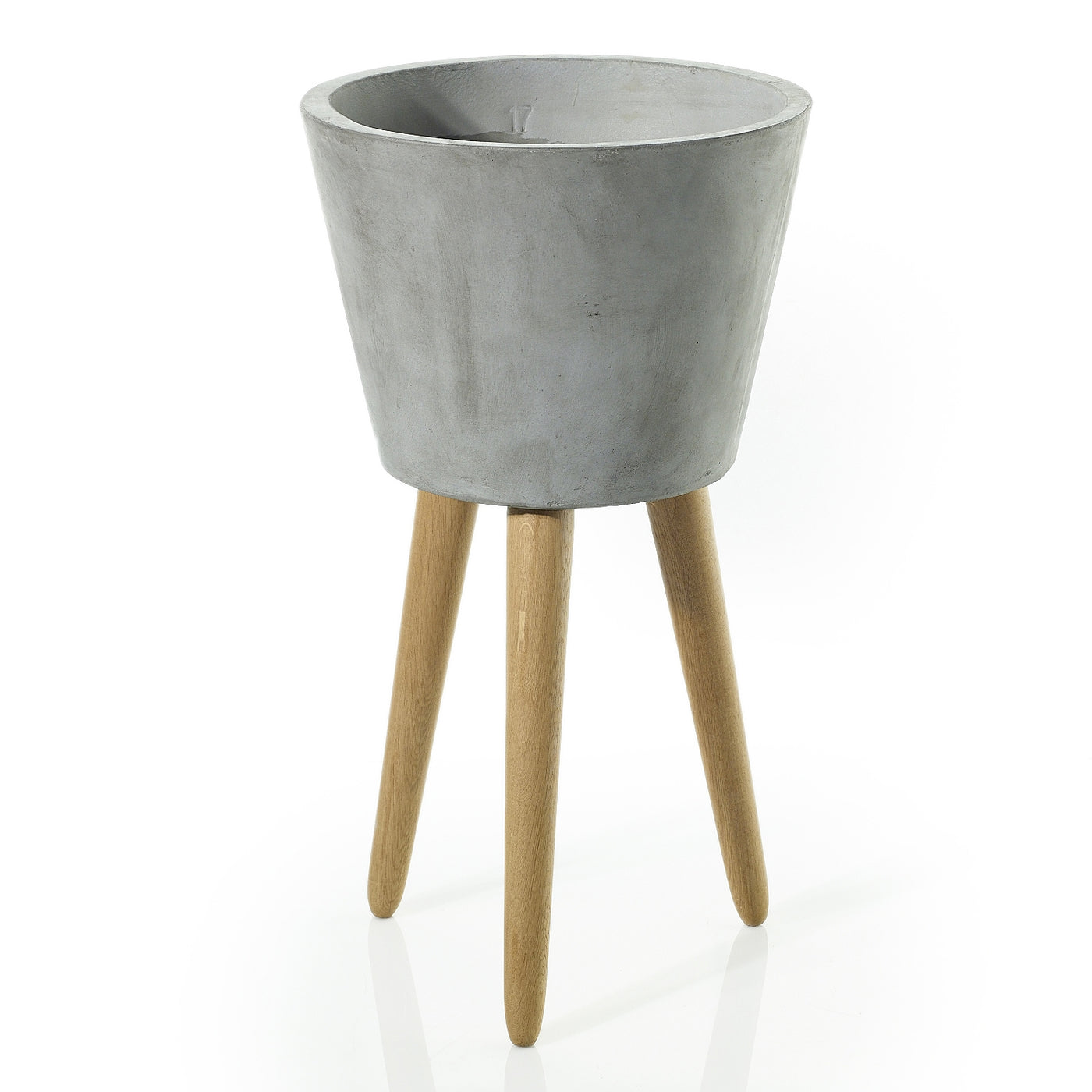 Concrete & Wood Elevated Planters