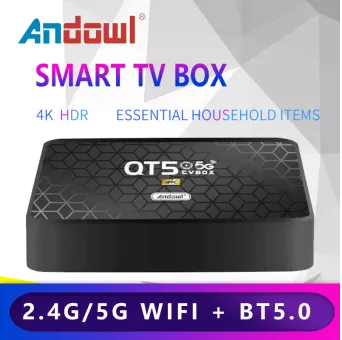 Box Andoid Andowl QT5 2GB Ram +16 GB Rom Wifi 2.4/5 Ghz- Android 10.0-