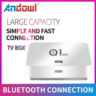 Box TV CON TASTIERA Andowl Q1 6K Smart Android 10 OS 64 GB eMMC da 4 GB